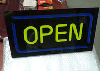 Restauracja Outdoor Neon Open Sign / LED Signs Board Nazwa sklepu Board Design